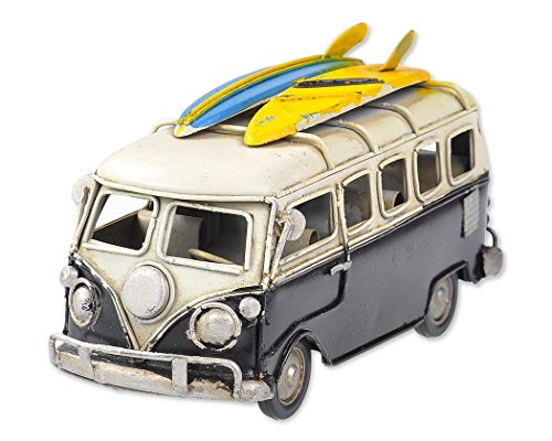 Ace Select Toy Camper Van 6.3 Inches Worn Style Retro Metal Classic VW T1 Camper Van Beach Bus Toy Model - Ideal Birthday Valentines Surprise for Boyfriend