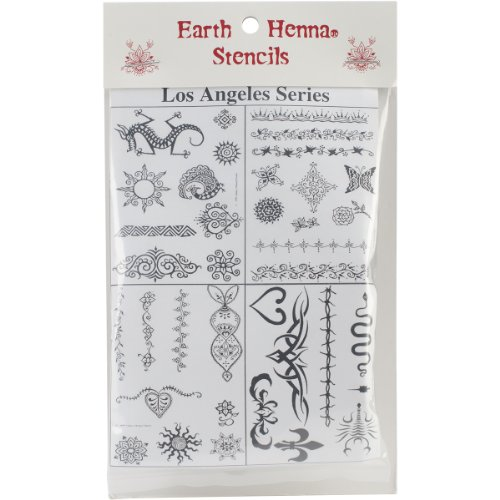 Earth Henna SP-LAAS Stencil Transfer Pack, Los Angeles Artist Series (Earth Tattoo Henna)