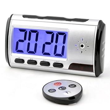 Reloj Despertador Digital Espía HD con Detección Movimiento 4GB: Amazon.es: Electrónica