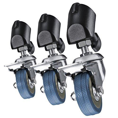 Walimex Tripod Wheels Pro - Juego de ruedas profesionales para trípodes, negro: Amazon.es: Electrónica