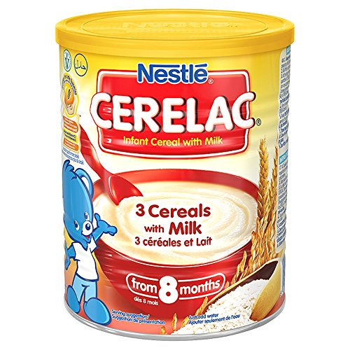 Nestle Cerelac 3 Cereals With Milk, 400 Gram Can