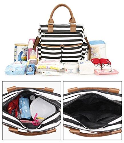 Bolsa de pañales mochila grande, la moda, duradera de múltiples funciones de calidad superior de estilo bebé cambio de bolsa