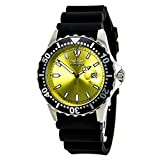 Invicta Men's 10918 Pro Diver Yellow Dial Black Polyurethane Watch