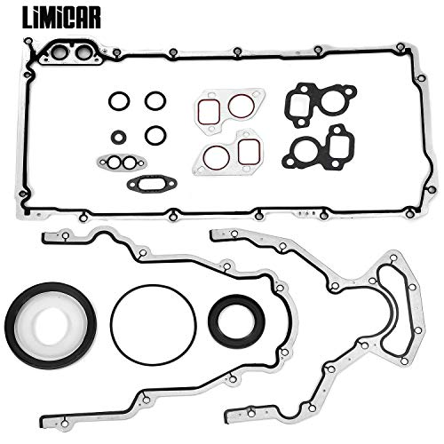 (LIMICAR Engine Conversion Lower Gasket Set CS5975A CS9284 Compatible with 1997-2011 GMC Fits Ford Isuzu Saab 5.7L 6.0L 6.2L OHV LS3 VIN H M)