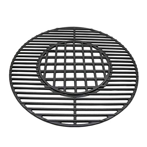 Hinged Grate - Edgemaster Cast Iron Gourmet 8835 BBQ System Hinged Cooking Grate Replacement Fits Weber 22-1/2-inch Weber charcoal grills