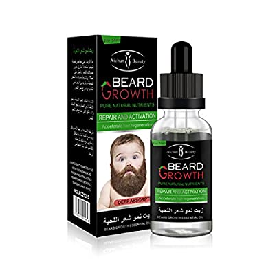AlexGT 1Pcs Men's Beard Growth Solution Gentle Maintenance Hair Growth Beard Growth Essential Oil o