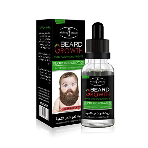 - AlexGT 1Pcs Men's Beard Growth Solution Gentle Maintenance Hair Growth Beard Growth Essential Oil o