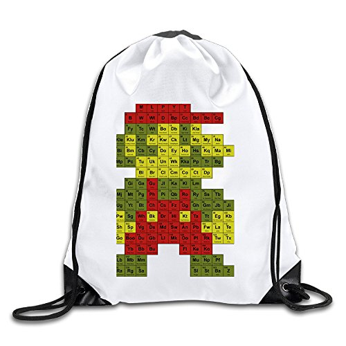 (Discovery Wild Cartoon Periodic Table Polyester Training Gymsack Sackpack Home Travel Sport Storage Use)