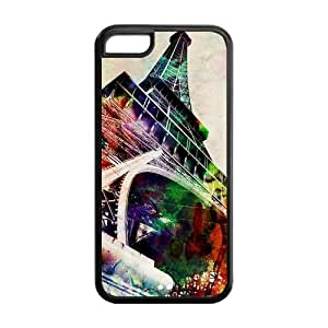 Eiffel Tower Solid Rubber Customized Cover Case for iPhone 5c 5c-linda241