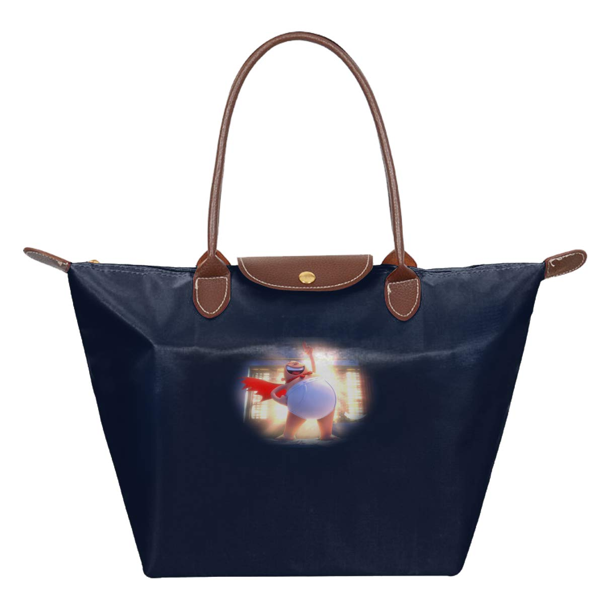 Captain Underpants Waterproof Leather Folded Messenger Nylon Bag Travel Tote Hopping Folding School Handbags