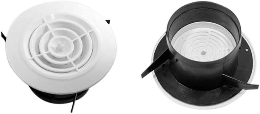 Grille da/ération ronde en plastique blanc 75-125 mm Pour l/'/évacuation de lair Grille da/ération de salle de bain avec moustiquaire