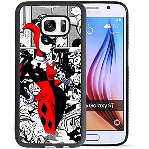 Samsung Galaxy S7 Case, Onelee Customized Harley Quinn Comis [Anti Slip] Black TPU and PC Samsung Galaxy S7 Case Sales