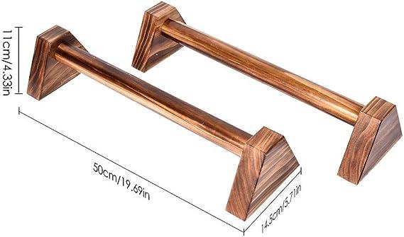 2X Push Up Liegestütz Gymnastik Calisthenics Low Parallel Bars Hölzern 25cm