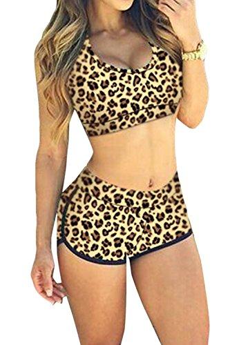SDolphin Women's Push up High Neck Halter Bikini Sets Swimsuit Midnight Top S