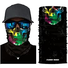 Bookear Outdoor Cycling Riding Hiking Motorcycling Protective Face Mask, Breathable Seamless Tube Skull Face Mask