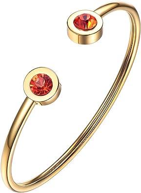 14 Ct Red Ruby Multi Stone Bracelet Women Jewelry 14K Gold Plated Nickel Free
