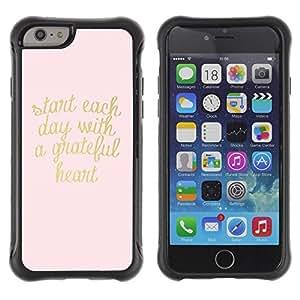 Suave TPU GEL Carcasa Funda Silicona Blando Estuche Caso de protección (para) Apple Iphone 6 / CECELL Phone case / / gold pink text heart motivational text /