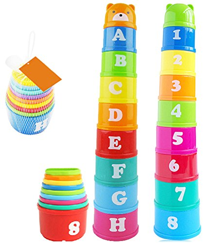 UPC 612459928387, Vidatoy Brilliant Colorful Stacking & Nesting Cups Fun building beakers For Kids