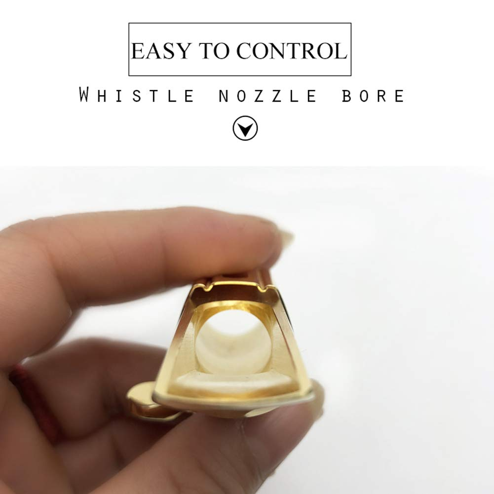Ligature #7 Soprano Saxophone Mouthpiece Professional Gold Plated Metal Soprano Sax Mouthpiece for Playing the Jazz Music with Cap
