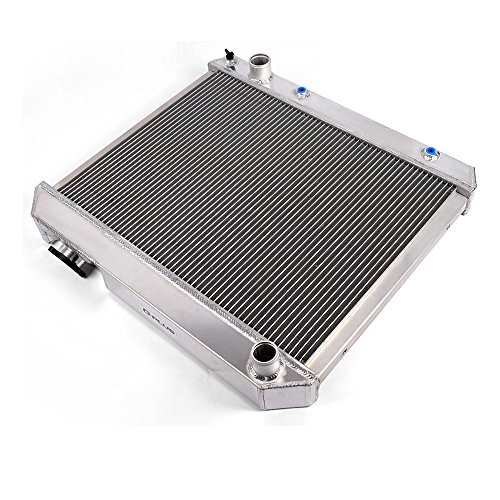 All Aluminum Replacement Radiator Compatible for GM C/K Series Pickup 1961-1966 Silver ()