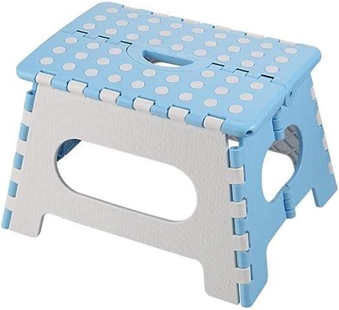 TYUIO Mini Taburete Plegable, Taburete pequeño Banco de Pesca al Aire portátiles de los niños del hogar de plástico, Fuera del artefacto Cola de Adulto, Azul Camping Silla: Amazon.es: Hogar