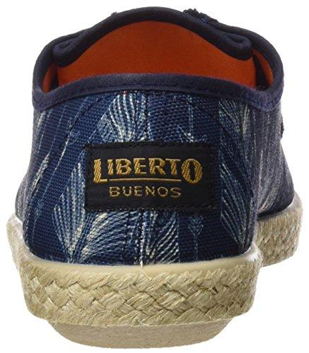 Derby de Azul Lib29sl Mujer Cordones para LIBERTO Petroleo Zapatos wOBWZwq6