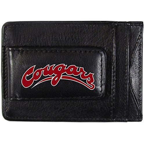 NCAA Washington State Cougars Logo Leather Cash & Cardholder, Black