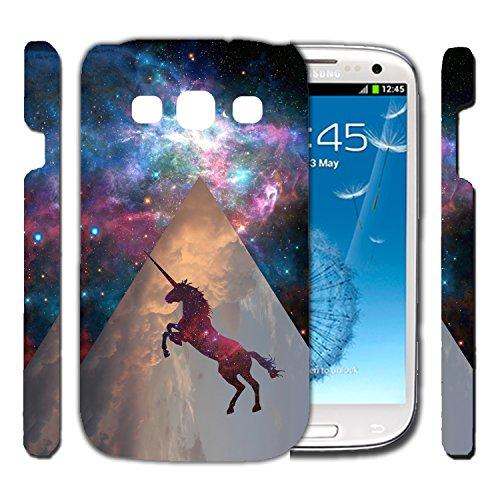 [TeleSkins] - Galaxy S3 Designer Hardshell Case - Unicorn Galaxy Space - Ultra Durable Slim & HARD PLASTIC Highly Protective Vibrant Snap On Designer Sublimation Back Case / Cover