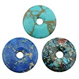 COIRIS 5cm Round Stone Pendant Beads Imperial Jasper for Jewelry Making DIY Design (ZS-45+46+47)