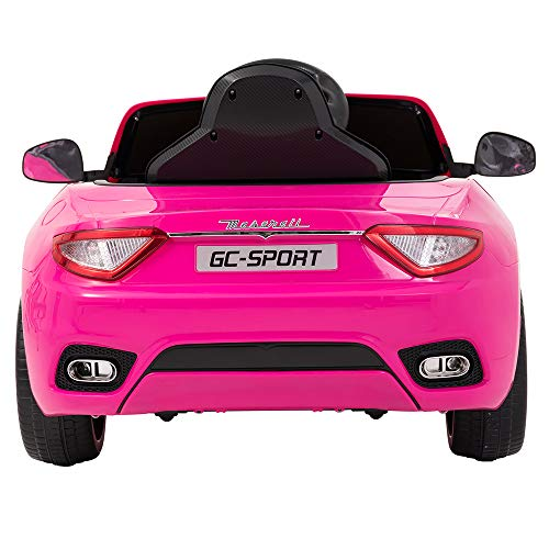 Uenjoy Maserati Grancabrio 12V Electric Kids Ride On Cars Motorized Vehicles for Girls W/Remote Control, Wheels Suspension, Mp3 Player, Light, Pink by Uenjoy (Image #6)