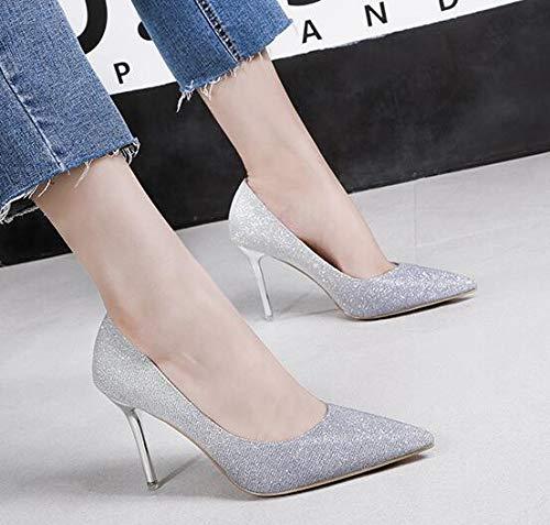 36 Silver Renly Argenté Femme Compensées 55 EU Sandales 5 9622 5 U7Uf8