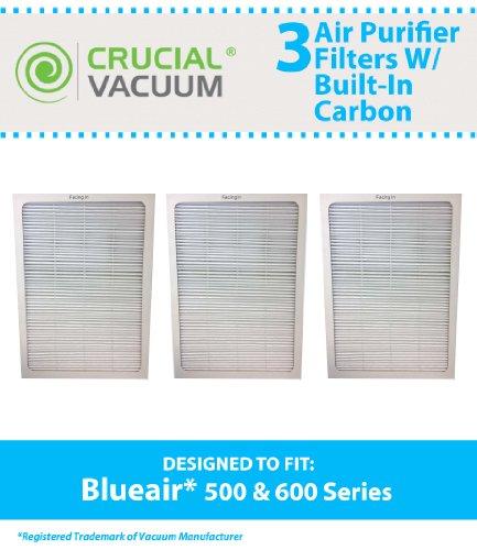 3 Blueair 500/600 Series Air Purifier Filters