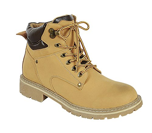 Collar Women's Work up Sole Camel Select Closed Boot Lug Ankle Hiking Padded Lace Round Toe Cambridge 5q8xwRgPt