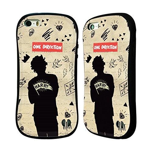 Officiel One Direction Harry Styles Silhouettes Étui Coque Hybride pour Apple iPhone 5 / 5s / SE