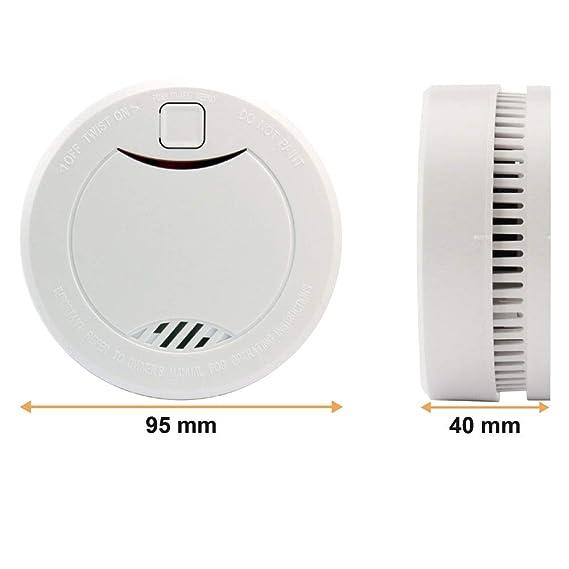 heiman 10 años Detector de humo (con indicador LED y fotoelektrischen Sensor - Blanco - Juego de 3: Amazon.es: Bricolaje y herramientas