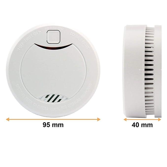 heiman 10 años Detector de humo (con indicador LED y fotoelektrischen Sensor - Blanco - 8 unidades): Amazon.es: Bricolaje y herramientas