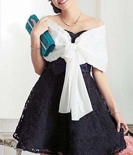 SwirlColor Poids léger de luxe Rose Conception mousseline châle pour nuptiale robe de soirée de mariage