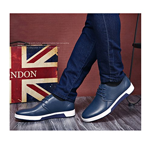 Moda Scarpe Scarpe Stringate Pelle Uomo Eleganti Classiche NXY Oxford con Scarpe in Blu AZTddqw