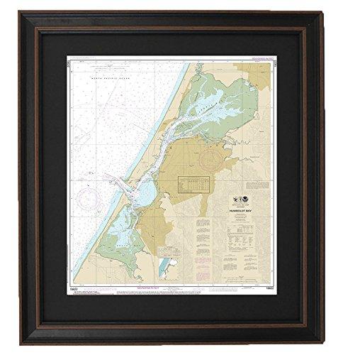 Framed Nautical Chart ; Humboldtベイ   B06XZJ8RD2