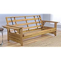 Phoenix Futon Sofa Frame in Butternut Finish