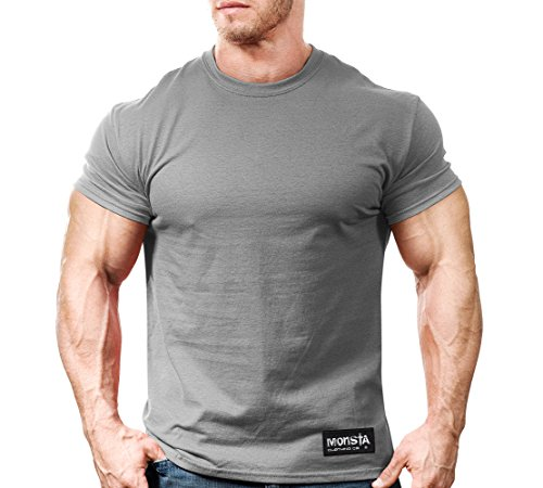 Monsta Gym Wear Classic Workout T-Shirt Grey