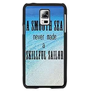 Fashion Blue Ocean Sea Design Samsung Galaxy S5 I9600 Case Cover with Quotes Cool Summer Beach Sand Print Hard Plastic Cell Phone Skin for Girls
