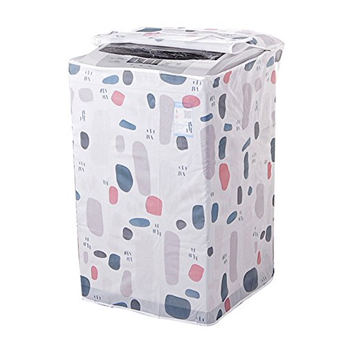 1PC Dust Proof Roller Washing Machine Top Covers Waterproof Washer/Dryer Cover Protective Dust Storage Bag Random Pattern (A)