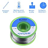 Mudder Lead Free Solder Wire Sn99 Ag0.3 Cu0.7 with Rosin Core for Electrical Soldering 100g (1.5 mm)