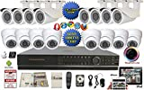 Evertech-32-Channel-HDMI-DVR-Full-D1-Security-Surveillance-1000-TVL-Dome-Bullet-Indoor-Outdoor-Cameras-ViewCam-App-2-TB-HDD-Metal-Power-Box-Warning-Sign