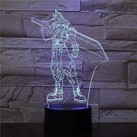 Sora Figura USB 3D LED Luz de noche Multicolor RGB Luz ...