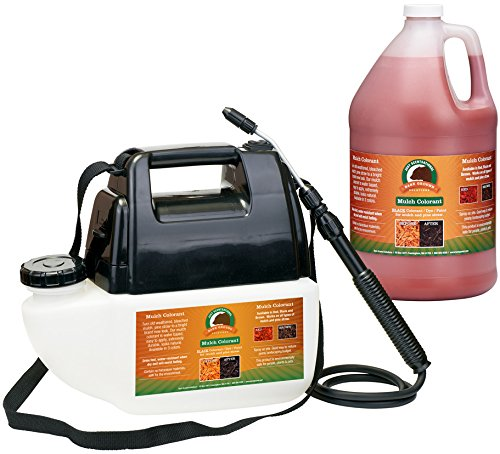 Just Scentsational MCBPS-1R Bark Mulch Colorant with Battery Powered Sprayer, Red, 128oz (1 Gallon) ()