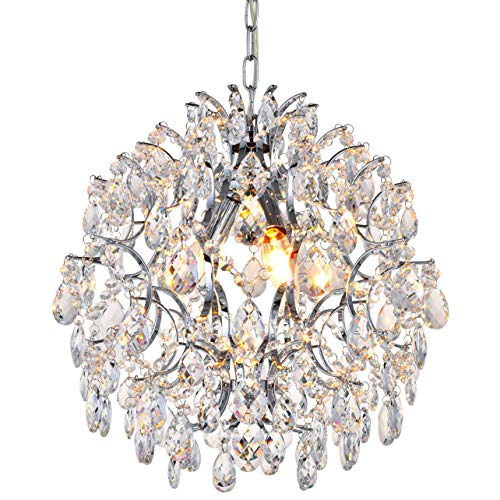 3 Light Crystal Ball Pendant Chandelier in US - 5