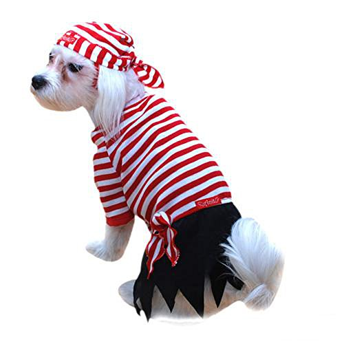 Pirate Dog Costume, Size Small