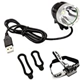 Tsptool 1200LM 3 Modes CREE 5V XML-T6 USB LED Headlamp Headlight Bike Bicycle Light